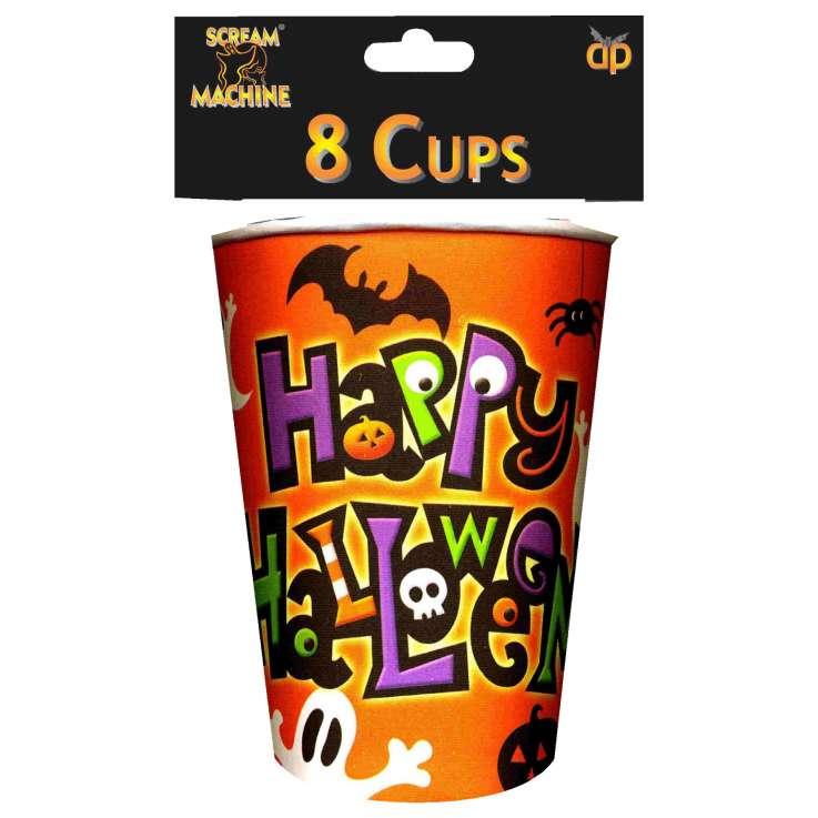 Scream Machine Halloween Cups 8 Pack