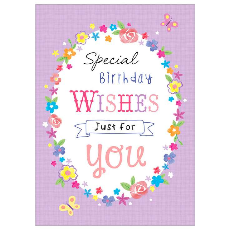 Garlanna Greeting Cards Code 50 - Special Wishes Oval