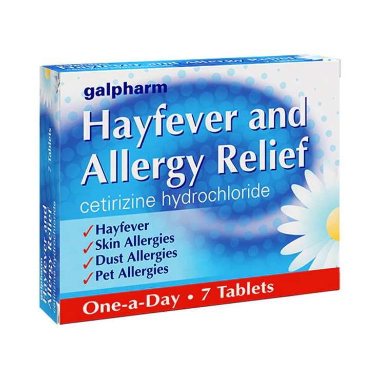 Galpharm Hayfever & Allergy Relief 10mg Tablets 7 Pack - Cetirizine