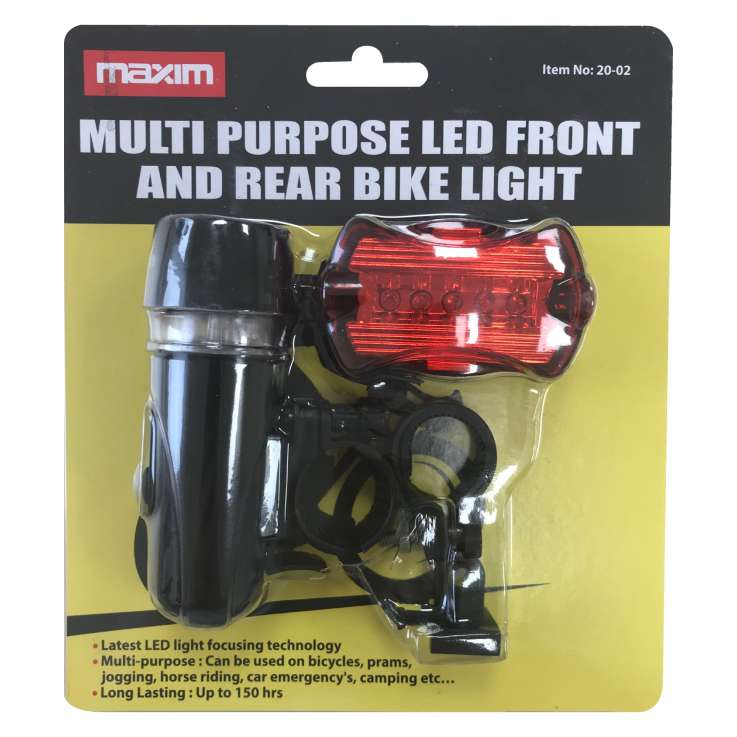 Multi purpose LED front & rear bike light
