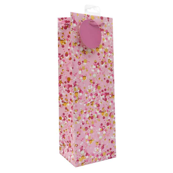 Bottle Gift Bags - Pink