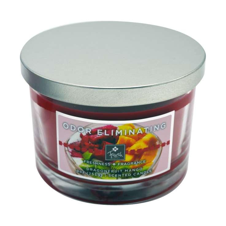 Odor eliminating 3 wick candle - dragonfruit mango fresh 9oz