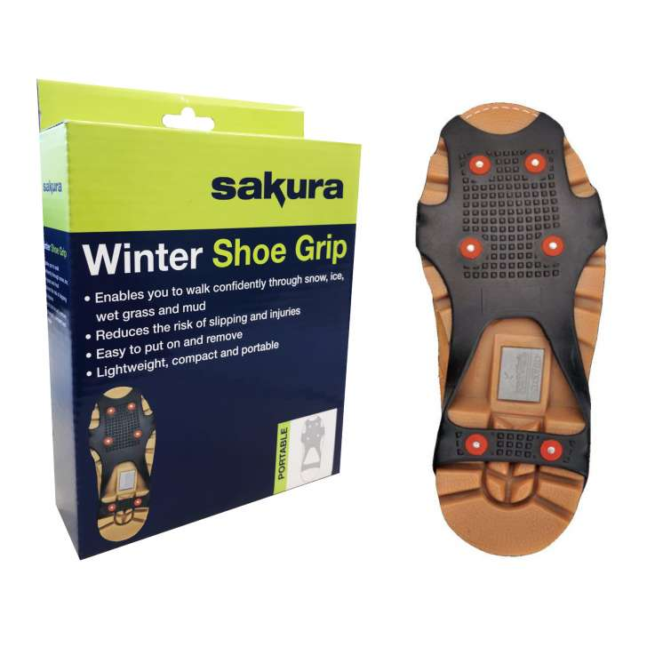 Sakura winter shoe grips - assorted sizes S, M, L, XL (3 of each)