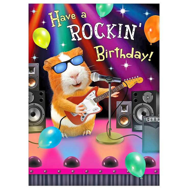 Garlanna Greeting Cards Code 50 - Rockin Hamster