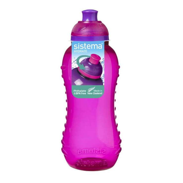 Sistema twist and sip bottle - pink 460ml