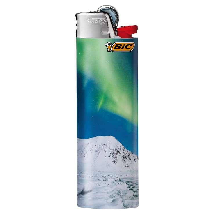 BIC Lighter J26 Decor - Maxi Flint Lighter - Aurora assorted designs