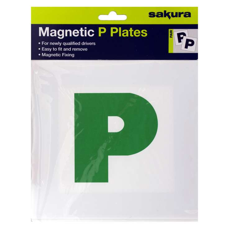 New driver green P plates 2PK - magnetic