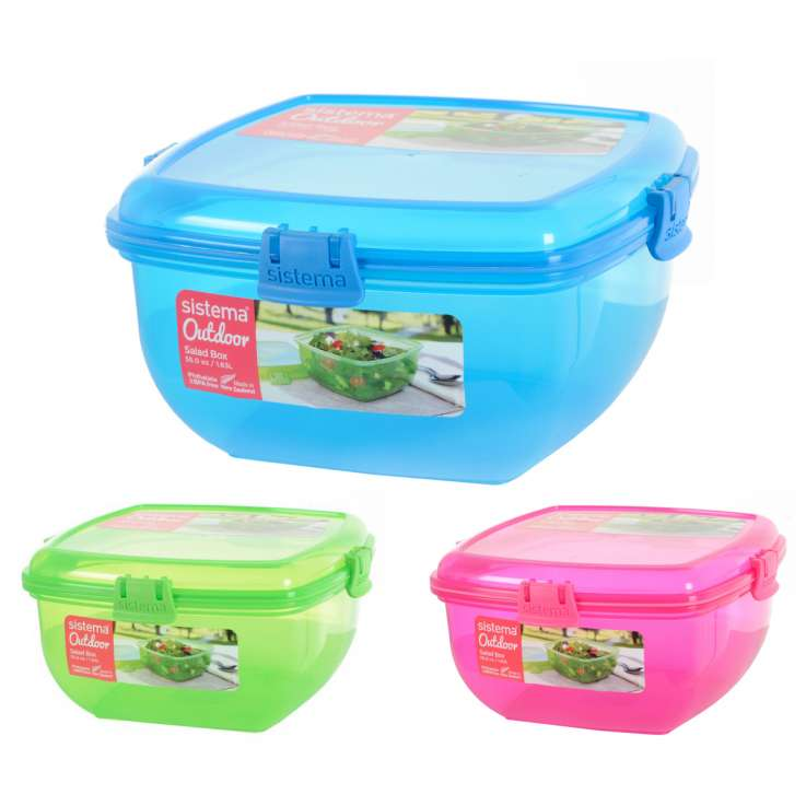 Sistema Salad Lunch Box 1.63L