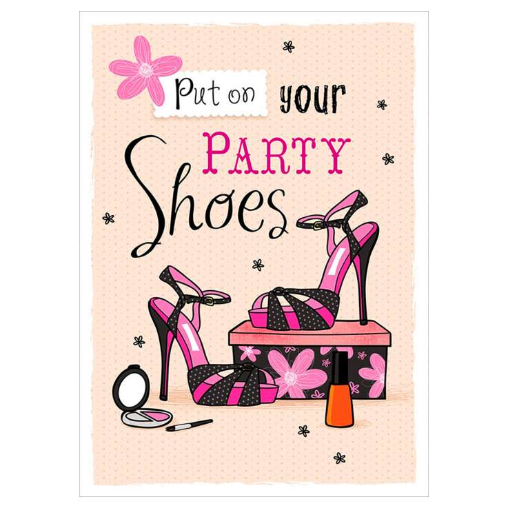 Garlanna Greeting Cards Code 50 - Party Shoes