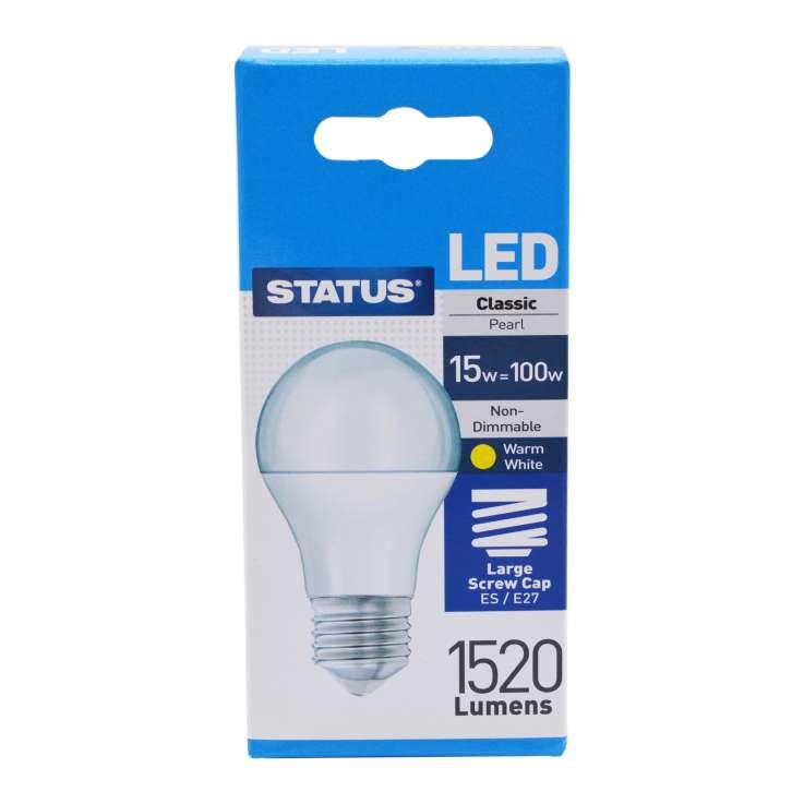 Status LED 15w=100w Large Screw Cap Light Bulb
