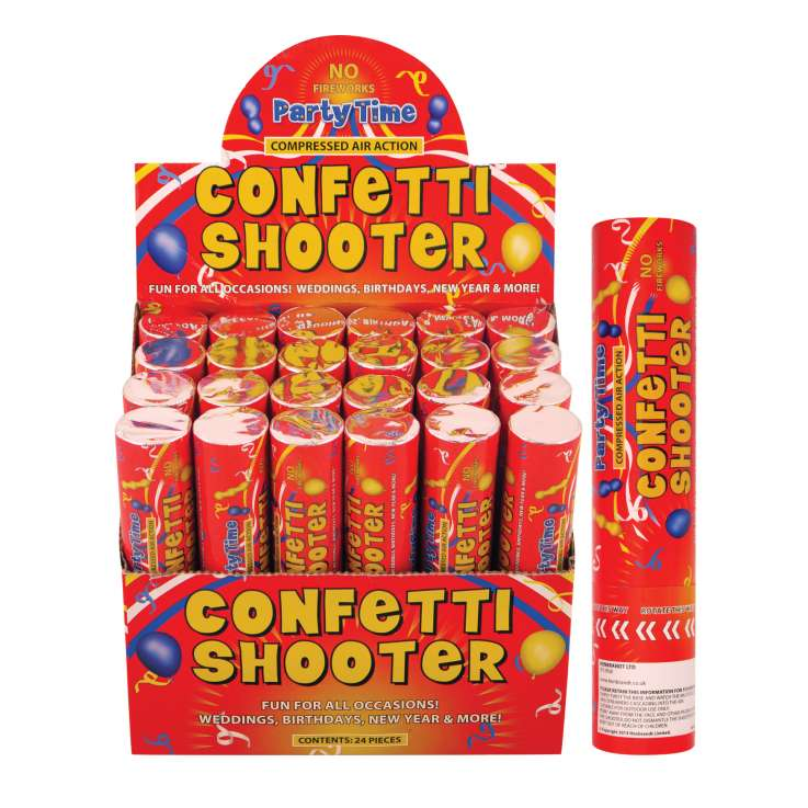 Confetti shooter party time paper 20cm