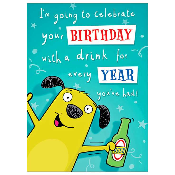 Garlanna Greeting Cards Code 50 - Humour Drink