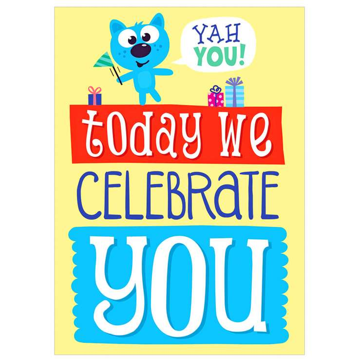 Garlanna Greeting Cards Code 50 - Celebrate (Text)