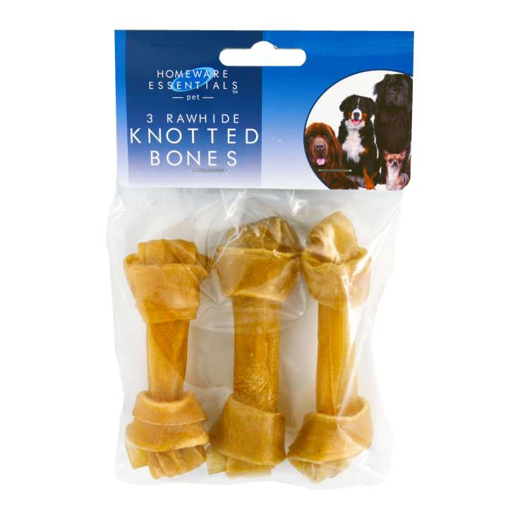 Rawhide knot bone 3 pces