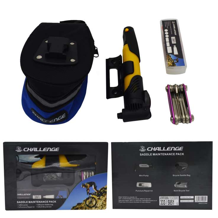 Cycling saddle maintenance pack