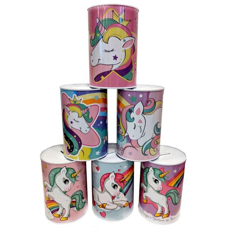 Money tins - unicorn
