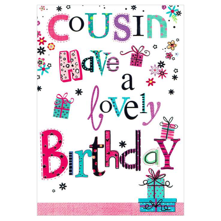 Everyday Greeting Cards Code 50 - Cousin (F)
