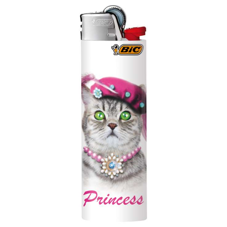 BIC Lighter J26 Decor - Maxi Flint Lighter - Kitten assorted designs