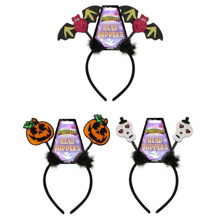 Halloween Glitter Headband Boppers