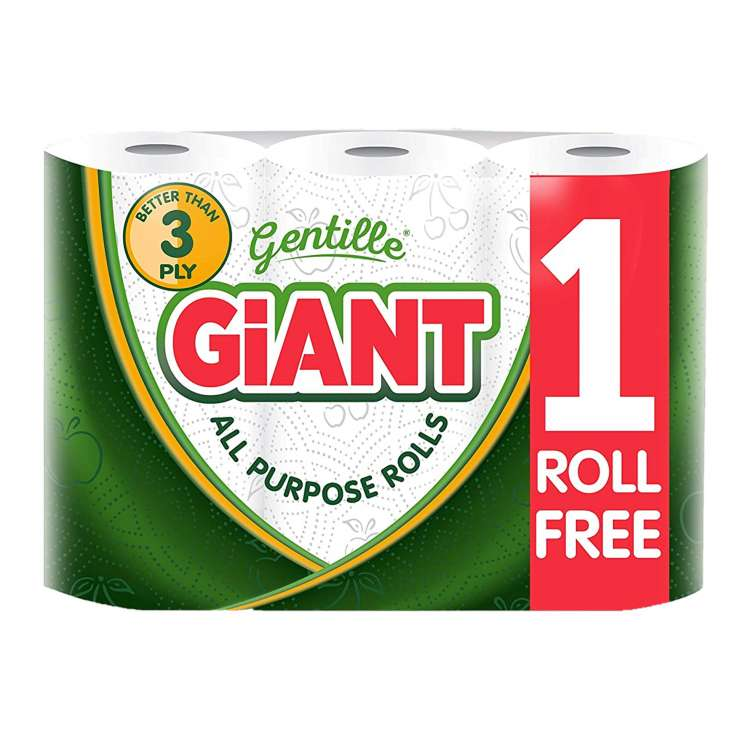 Gentille Giant Kitchen Roll 2Ply 3 Pack