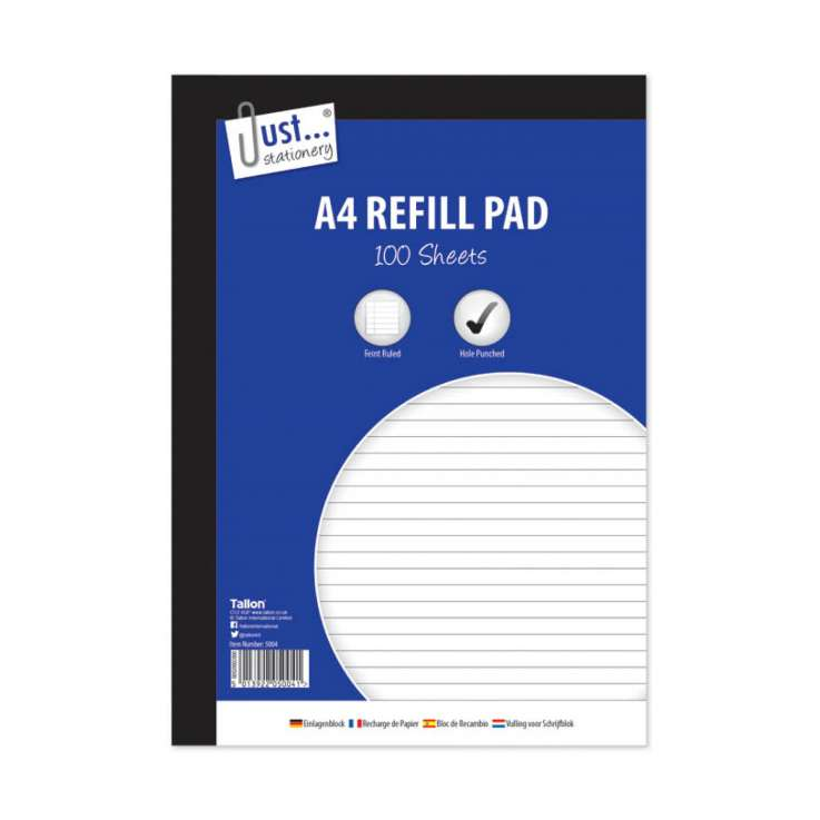 A4 lined refill pad 100 sheet