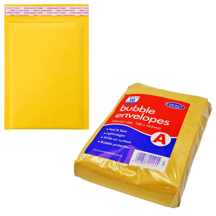 Bubble Lined Manilla Envelopes A (100mm x 165mm)