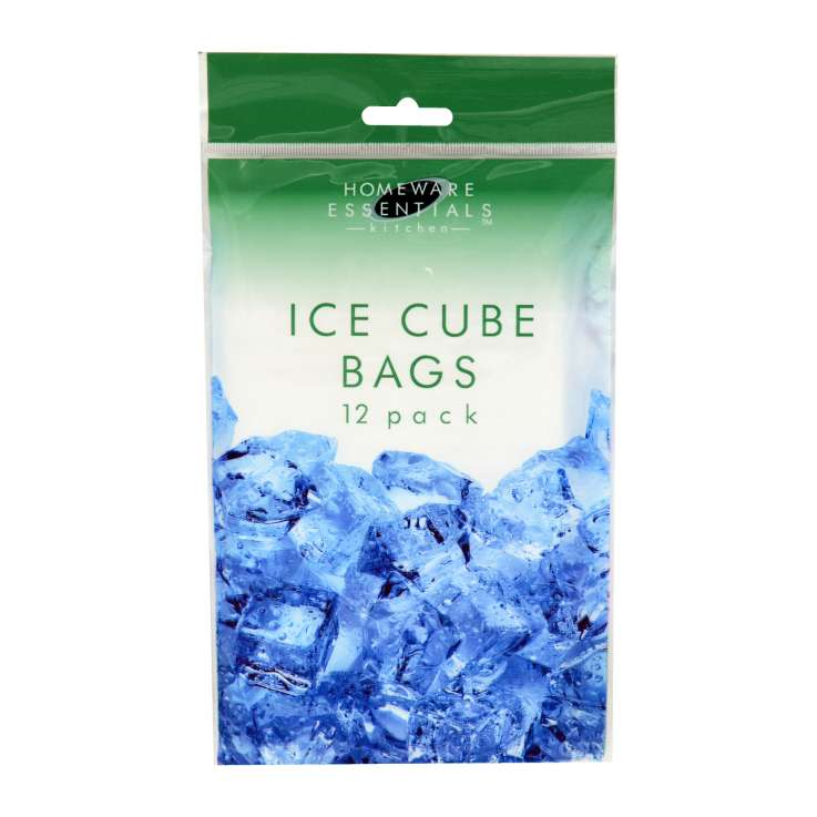 Ice cube bags 12 pack