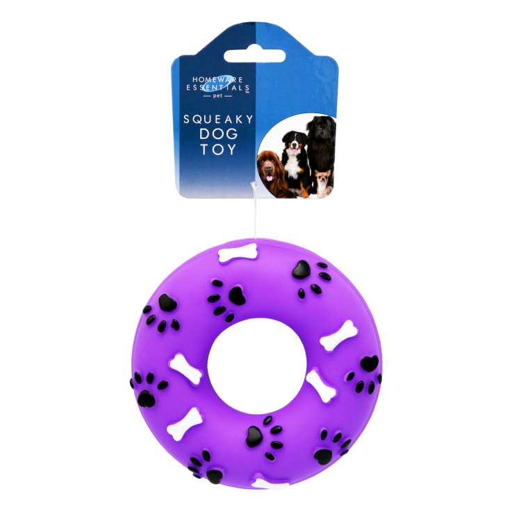 Homeware Essentials Squeaky Dog Ring