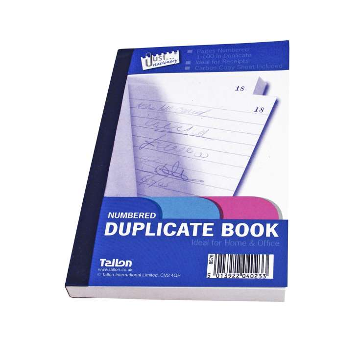 Numbered Duplicate Book 80 Pages