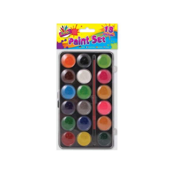 Paint box 18 colours with paint brush