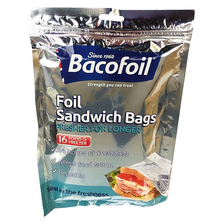 Baco foil sandwich bags 16 lrg - 200 x 180mm