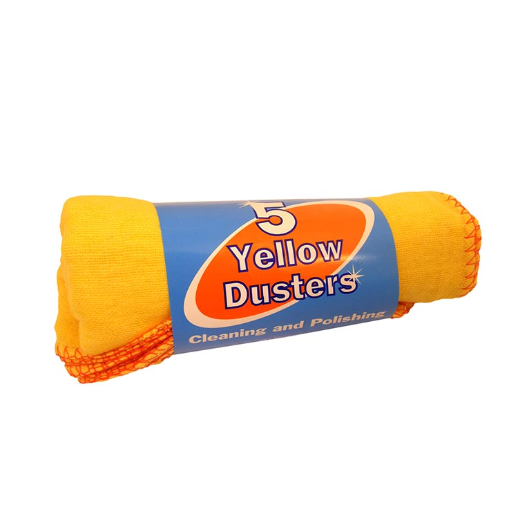 H/ess 5 pack yellow duster