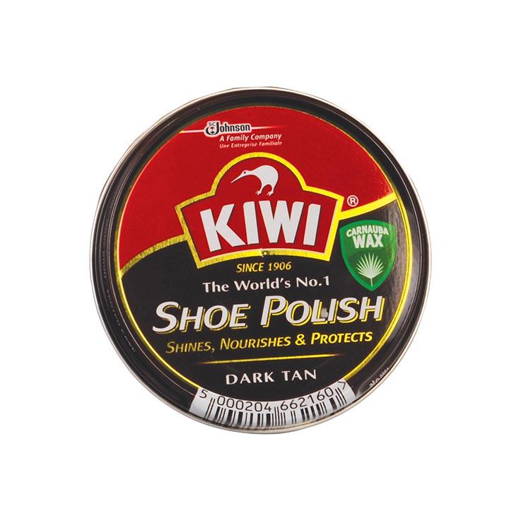 Shoe polish dark tan - kiwi 50ml