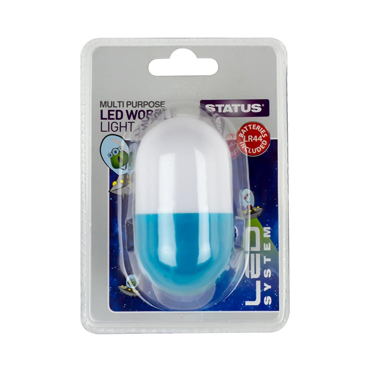 Led wobble light blue inc 3xlr44 batteries