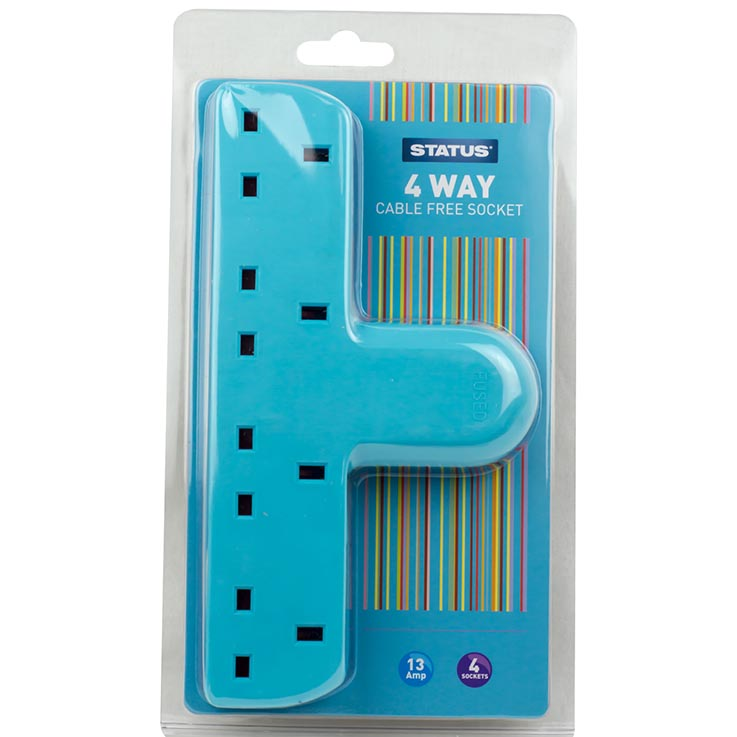 Status 4 way cable free socket - teal