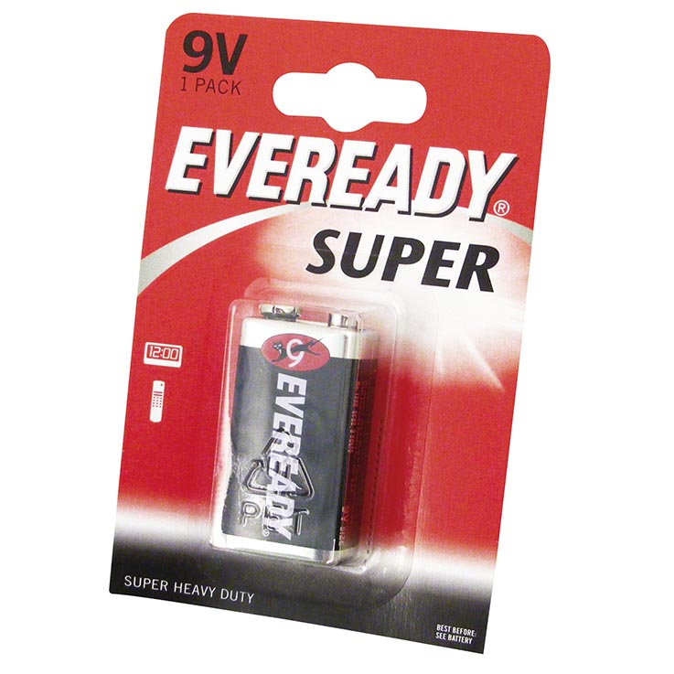 Eveready super h/duty batteries 1PK 9V