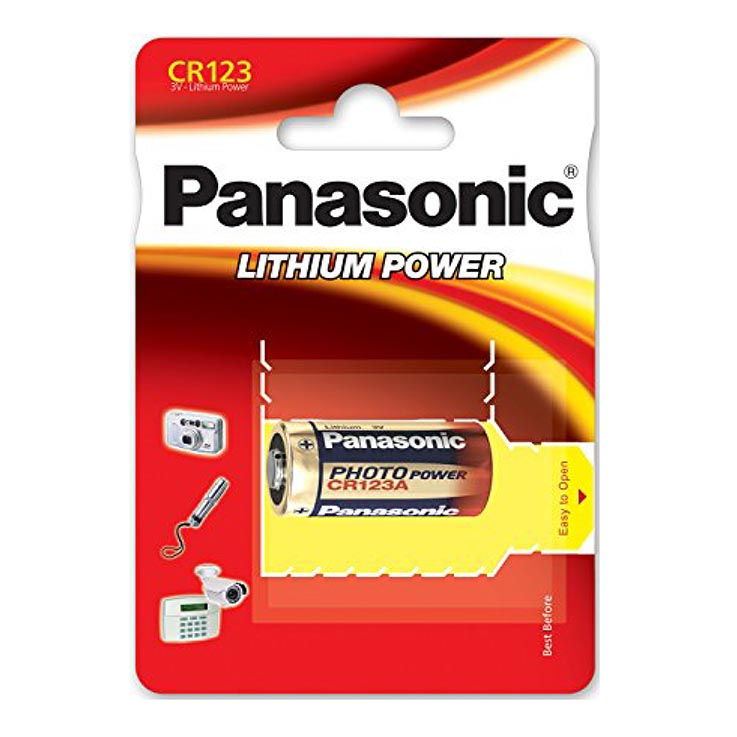 Panasonic camera lithium battery cr123