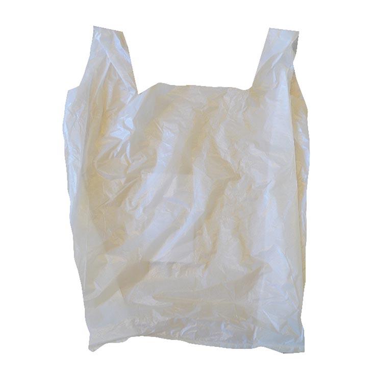 """White medium pluto carrier bags 10"""" x 15"""" x 18"""" (9mu)"""