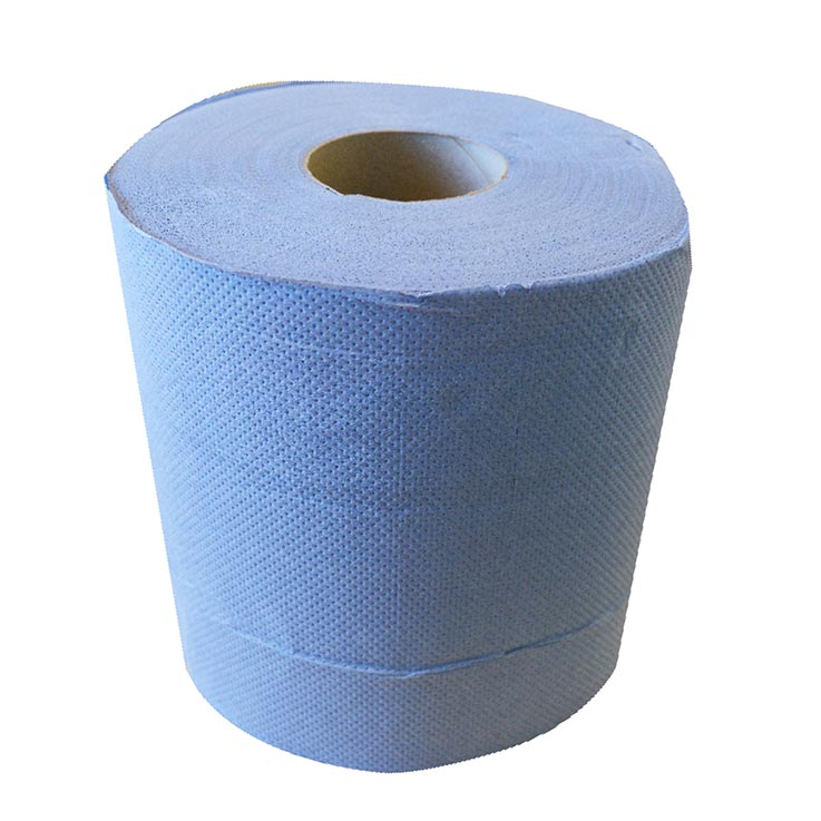 2 ply embossed blue centre feed 100m roll (480 sheets)