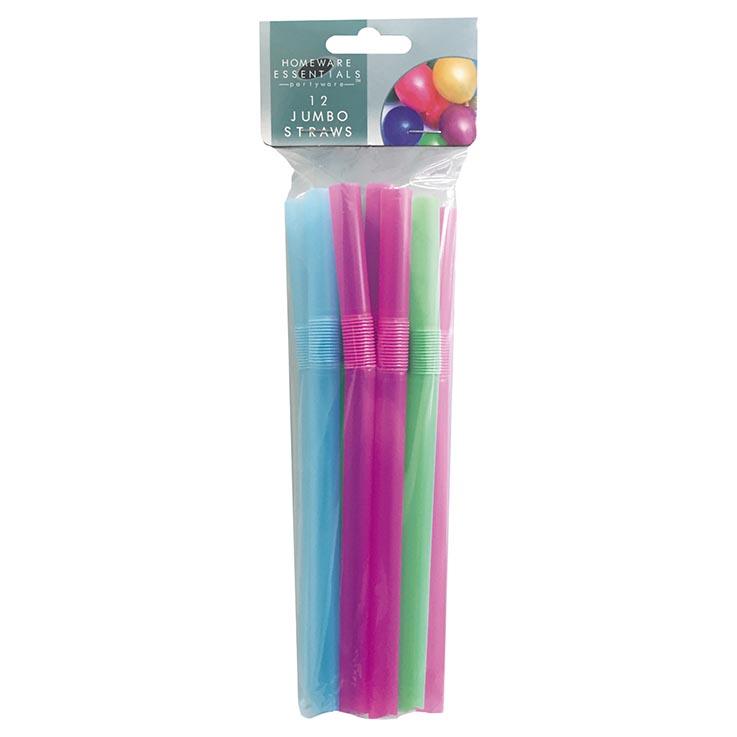 H/ess jumbo straws 12pk