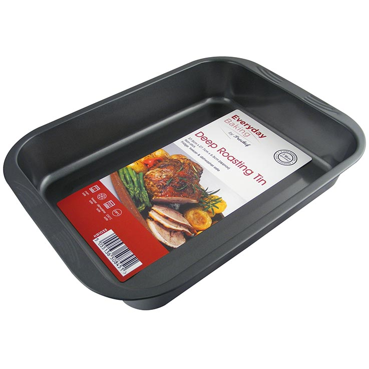 Deep roasting tin non stick (37.5 x 27.7 x 6.5cm) kb1033