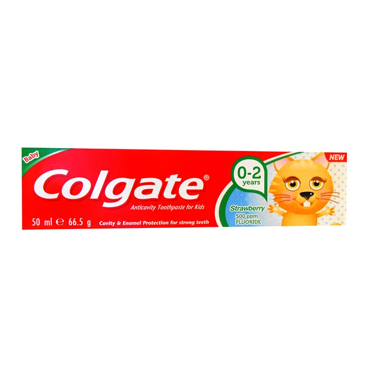 Baby 0-2yrs colgate toothpaste 50ml strawberry