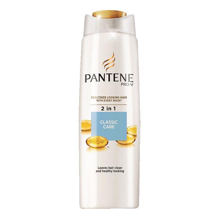 2 in 1 pantene shampoo 400ml - classic care