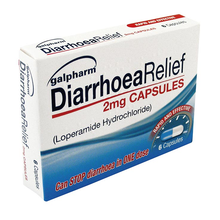 Galpharm Diarrhoea Relief 2mg Capsules 6 Pack