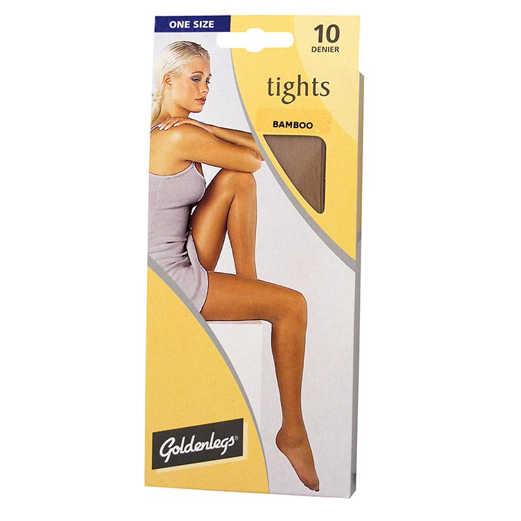 Tights sgl pk 10d one size - bamboo