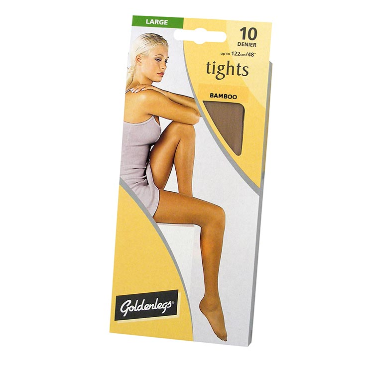 Tights sgl pk 10d large - bamboo