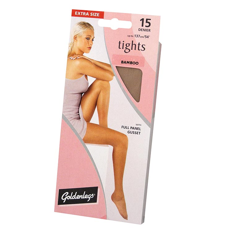 Tights sgl pk 15d ex large - bamboo