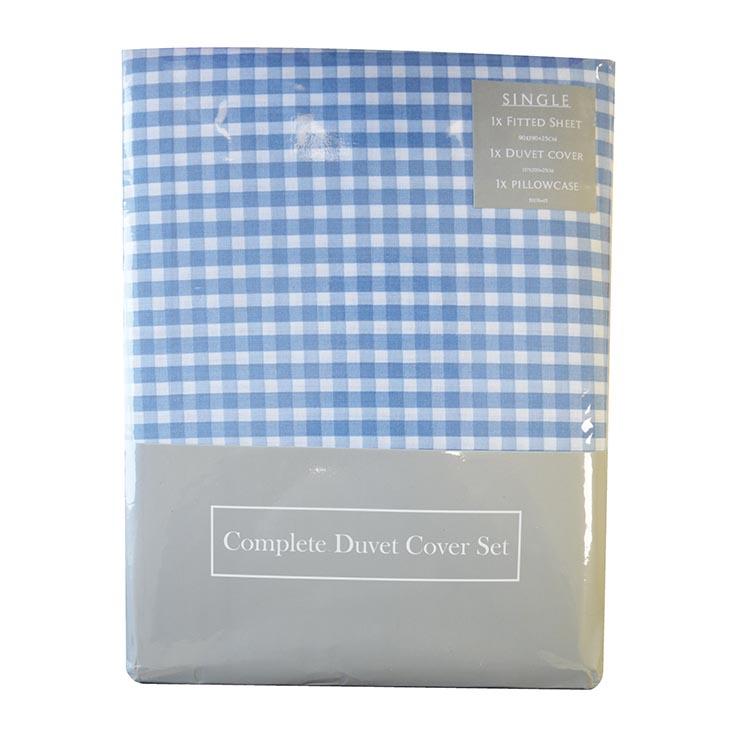 Single duvet set (pillow case/duvet cover/fitted sht)