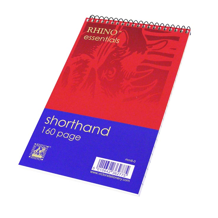 Rhino 160 page spiral notebook (203 x 125mm)
