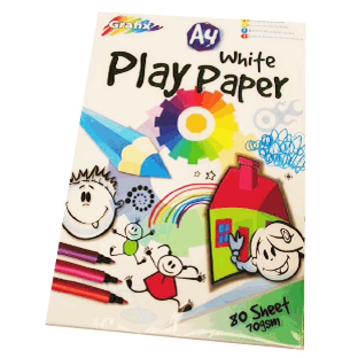 A4 white play paper 80 sheets
